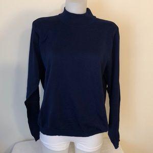 Talbots size XL long sleeve navy blue sweater